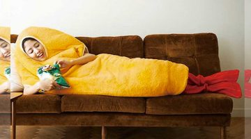 garnelen tempura schlafanzug schlafsack felissimo gadgets