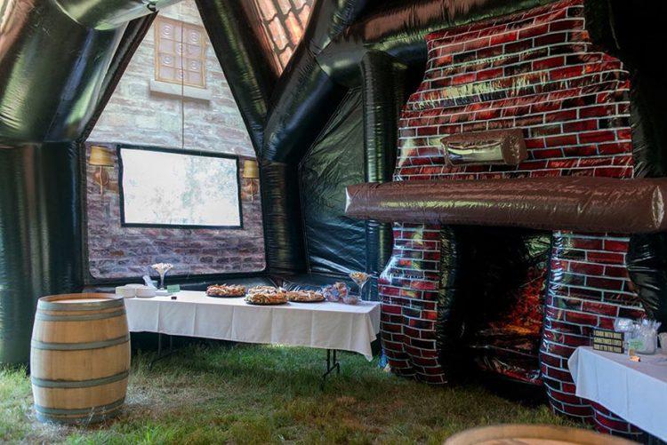 paddy wagon pub aufblasbarer irish pub