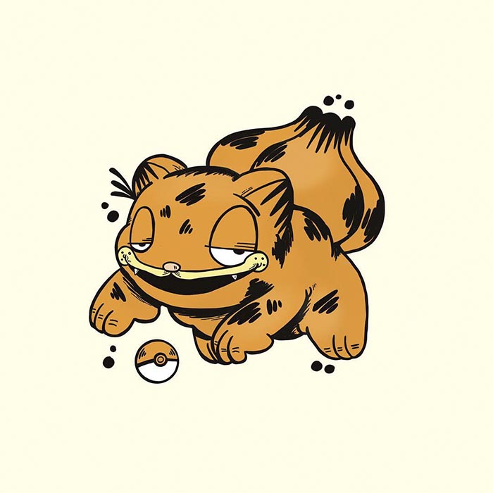 garfield als pokemon