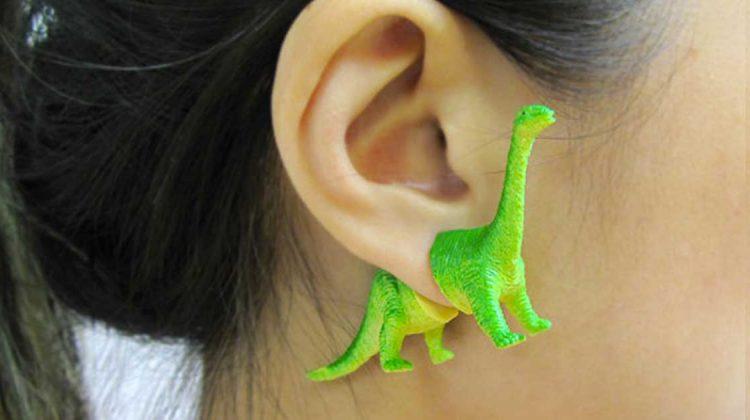 dinosaurier ohrringe oooworkshop etsy