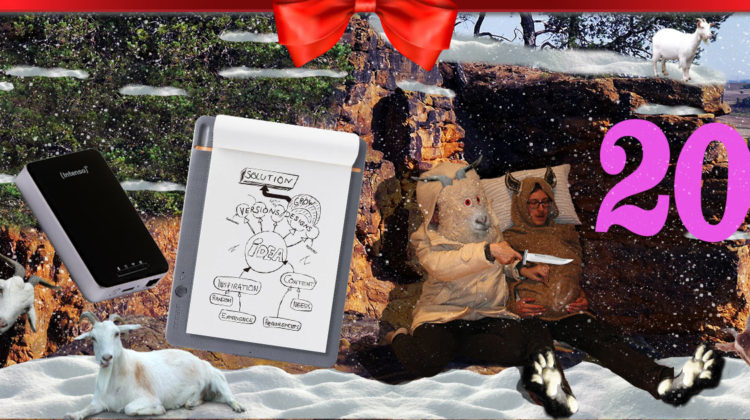 SLEAZE Adventskalender 2016 Wacom Bamboo Slate Intenso Festplatte